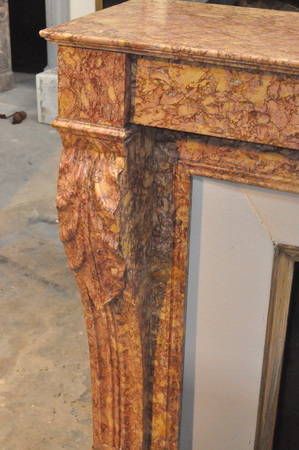 chemin e ancienne marbre louis philippe 19 eme si cle marbre. Black Bedroom Furniture Sets. Home Design Ideas