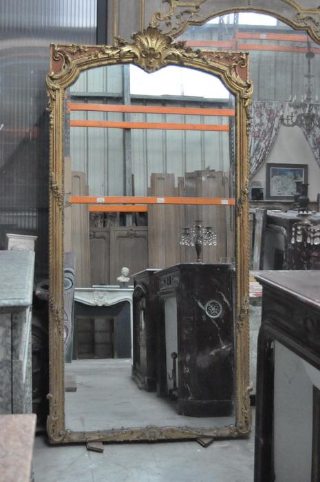 miroir ancien cadre feuille d or miroir ancien au mercure daniel morel. Black Bedroom Furniture Sets. Home Design Ideas