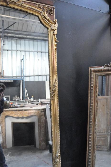 miroir ancien cadre or louis xv daniel morel. Black Bedroom Furniture Sets. Home Design Ideas