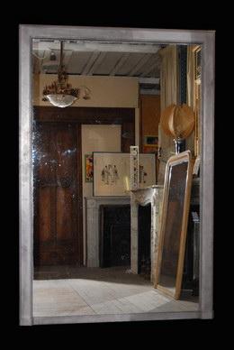 Miroirs anciens materiaux anciens ancien miroir mercure for Grande glace miroir